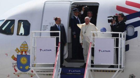 El Papa ya está en Perú