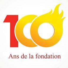anniversary 100 flame logo