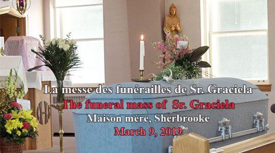 La messe des funérailles de Sr Graciela, 8 mars 2019