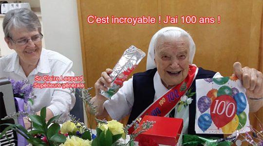 Vidéo de la fête de centenaire de Sr Madeleine