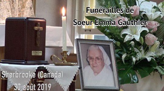 Funérailles de Sr. Emma Gauthier