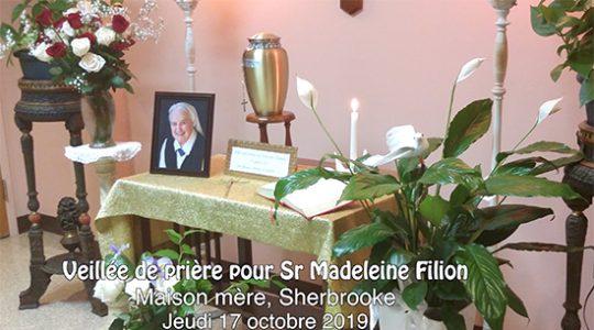 Veillée de prières pour sœur Madeleine Filion