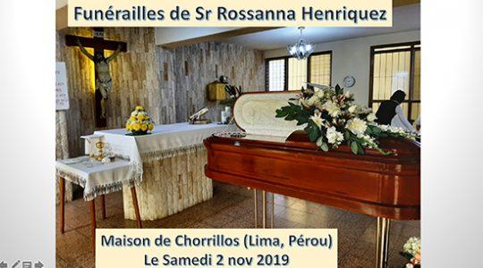 Funérailles de Soeur Rossanna Henriquez Cruz