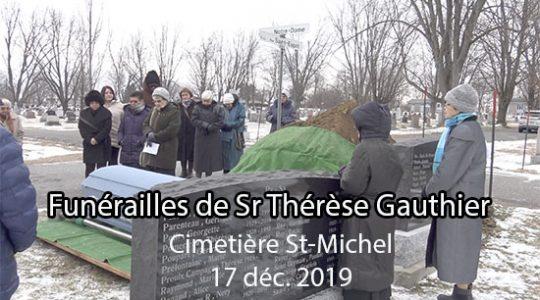 Funérailles de Sr Thérèse Gauthier (Vidéo #2)