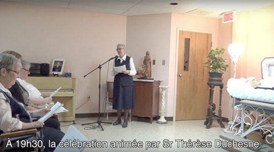 Veillée de prière pour Soeur Thérèse Gauthier (Vidéo #1)