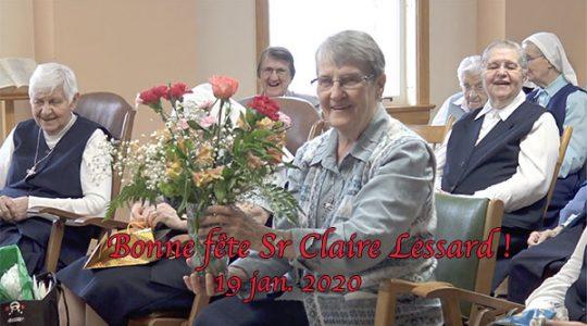 Fête de l'anniversaire de soeur Claire Lessard