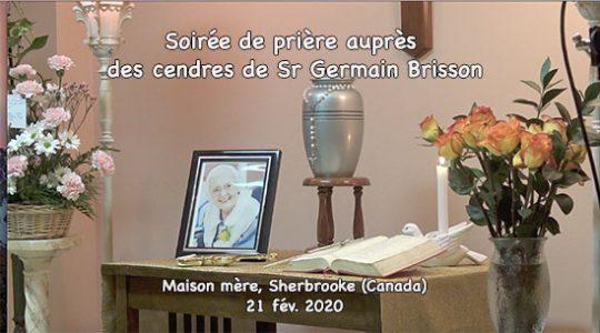 Soirée de prière auprès des cendres de Sr Germaine Brisson