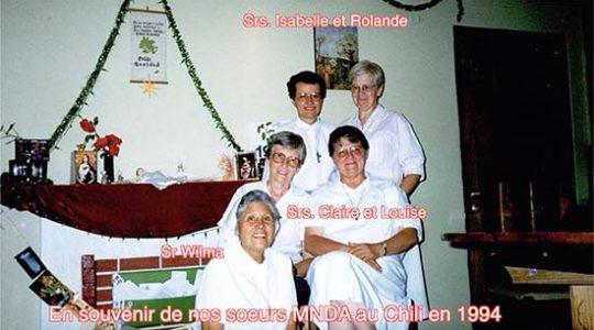 L'hommage à nos associés et à nos soeurs MNDA au Chili